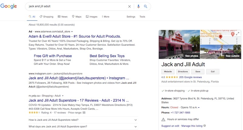 jack and jill search